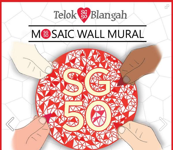 Telok Blangah <3 SG50 Mosaic Wall Mural