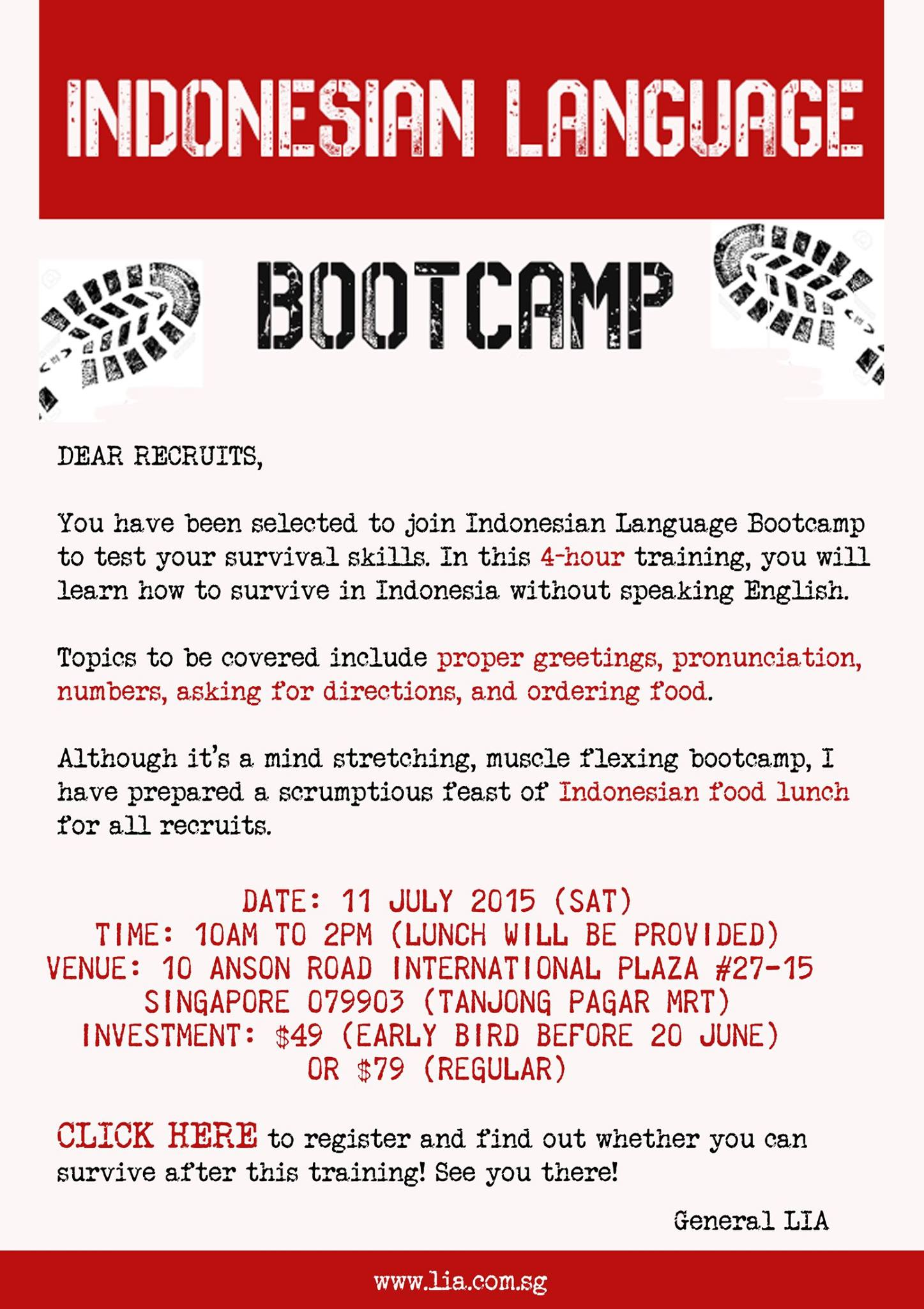Indonesian language bootcamp registration singapore eventnook indonesian language bootcamp m4hsunfo