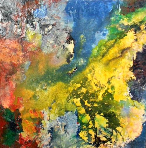 "Zohar Wallach . Within 2. Mixed Media on Canvas. 40""x40"""