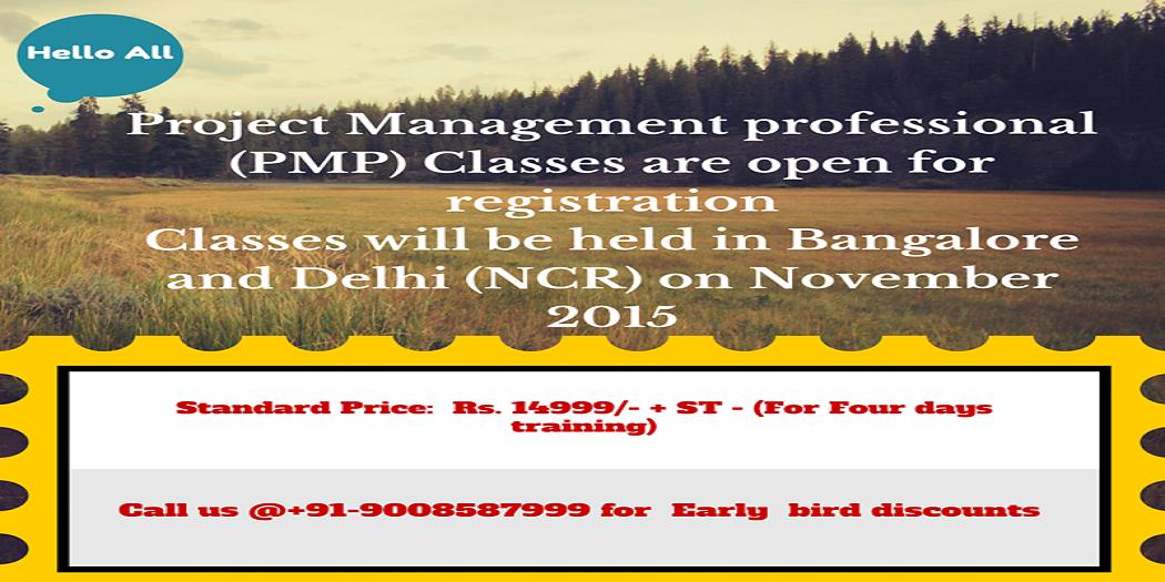 Project Management Professional At Delhi Ncr Classroom Online