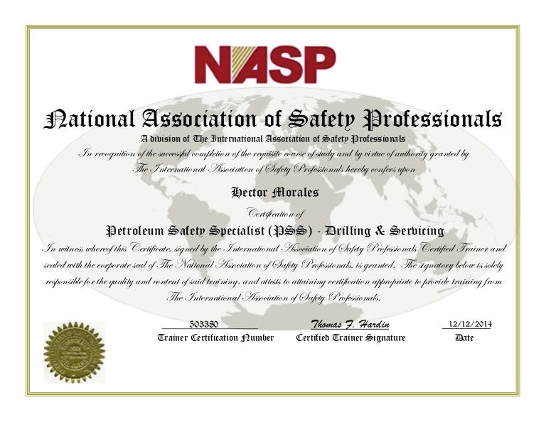 NASP Safety Training & Petroleum Safety Specialist (PSS ...