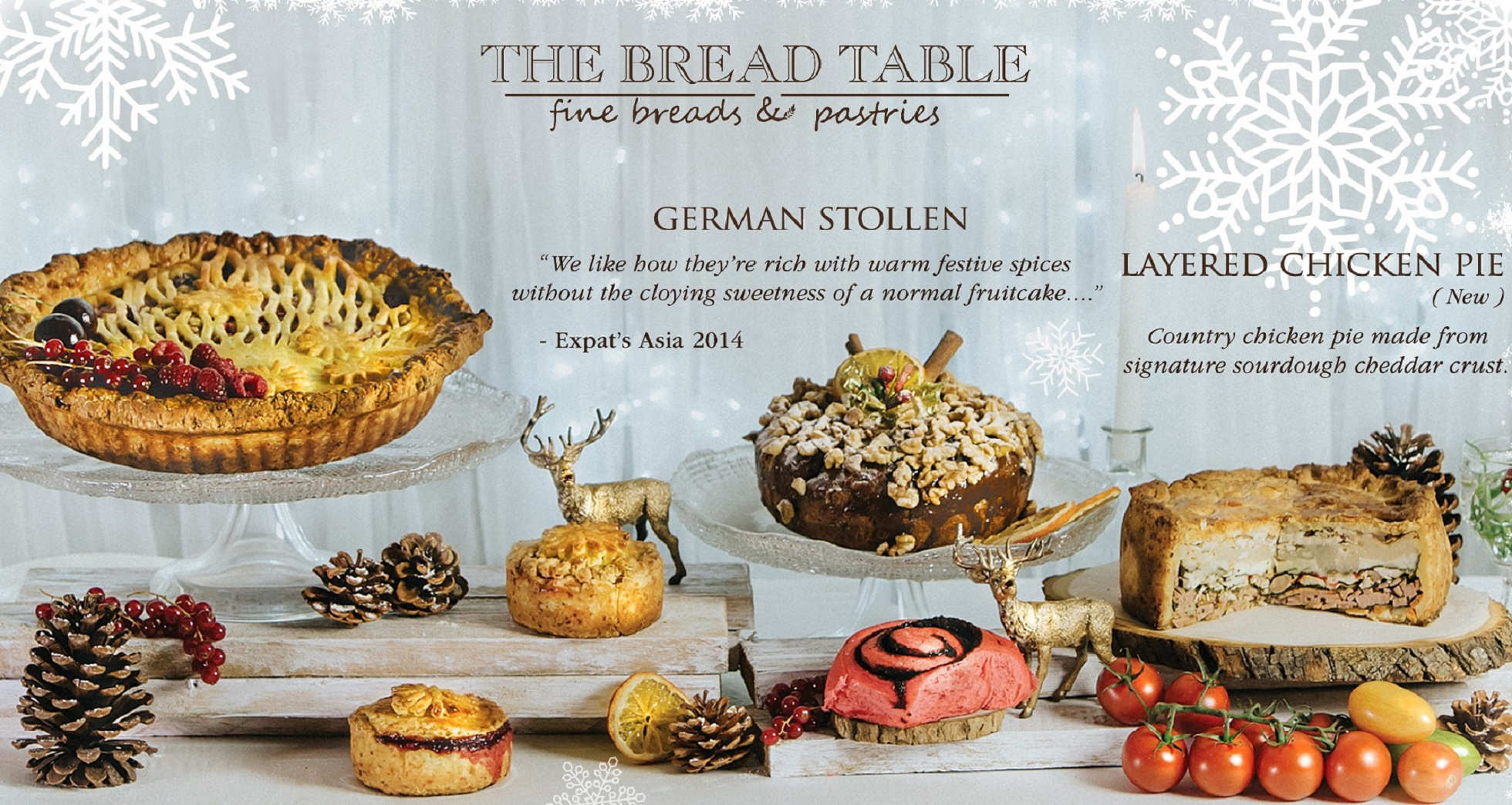 The Bread Table - Christmas Pies and Stollens Banner Image