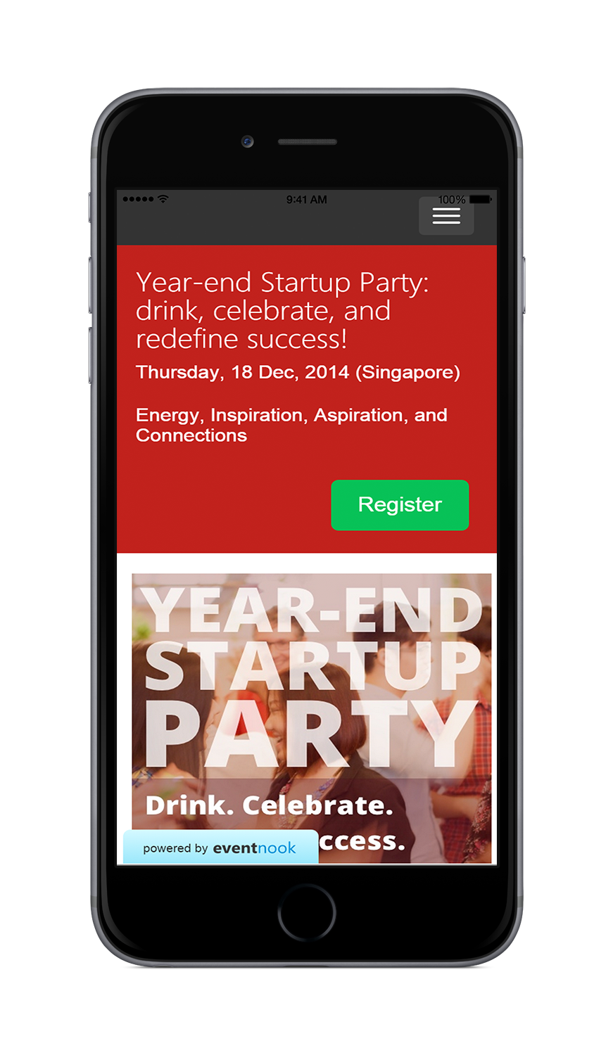 EventNook Mobile friendly event ticketing site