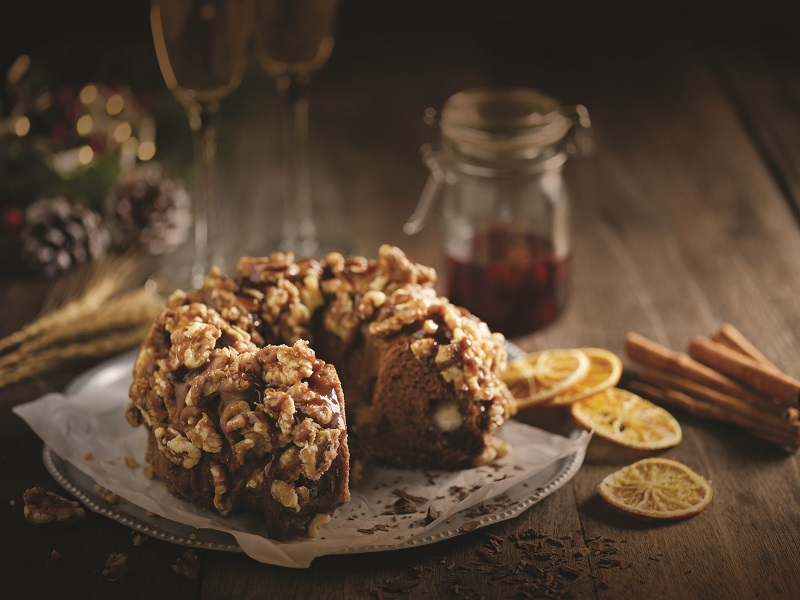 Golden Walnut Chocolate Stollen (Liquored Cherries)