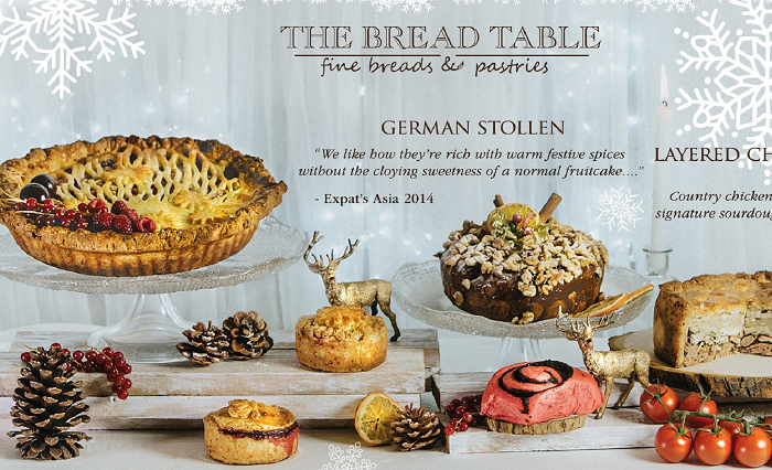 The Bread Table - Christmas Pies and Stollens