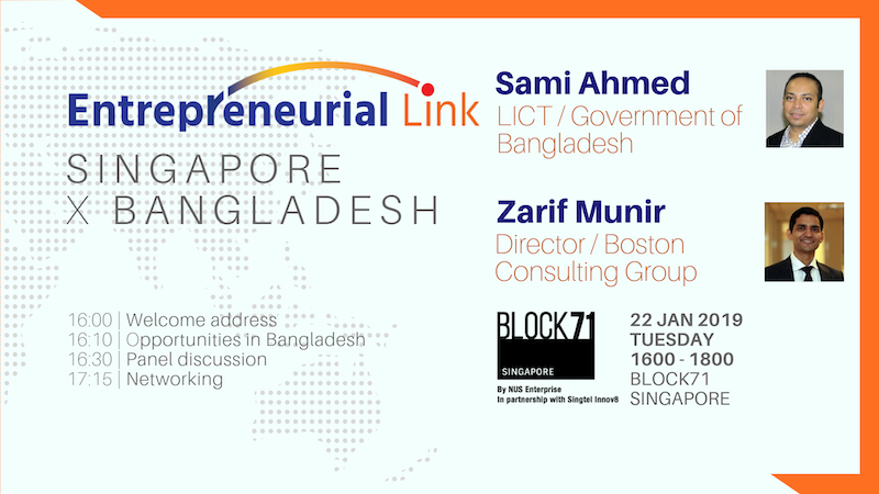 BLOCK71 Entrepreneurial Link: Bangladesh x Singapore