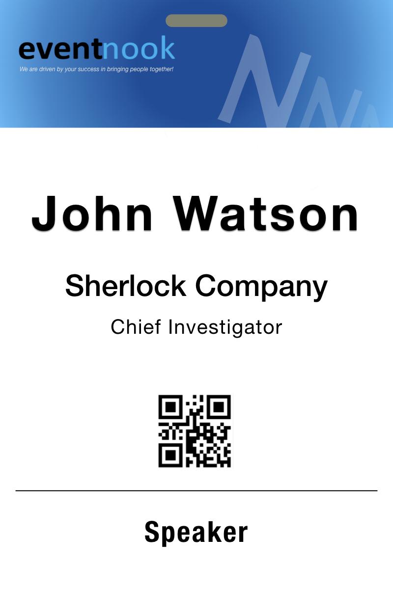 Event Badge Sample