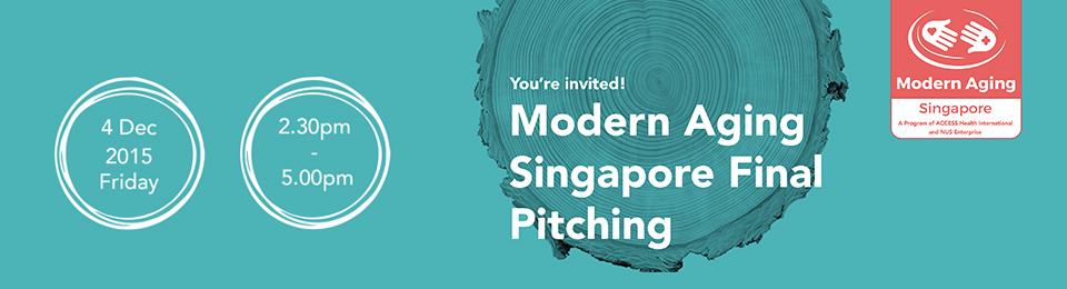 Modern Aging Singapore Final Pitching Banner Image