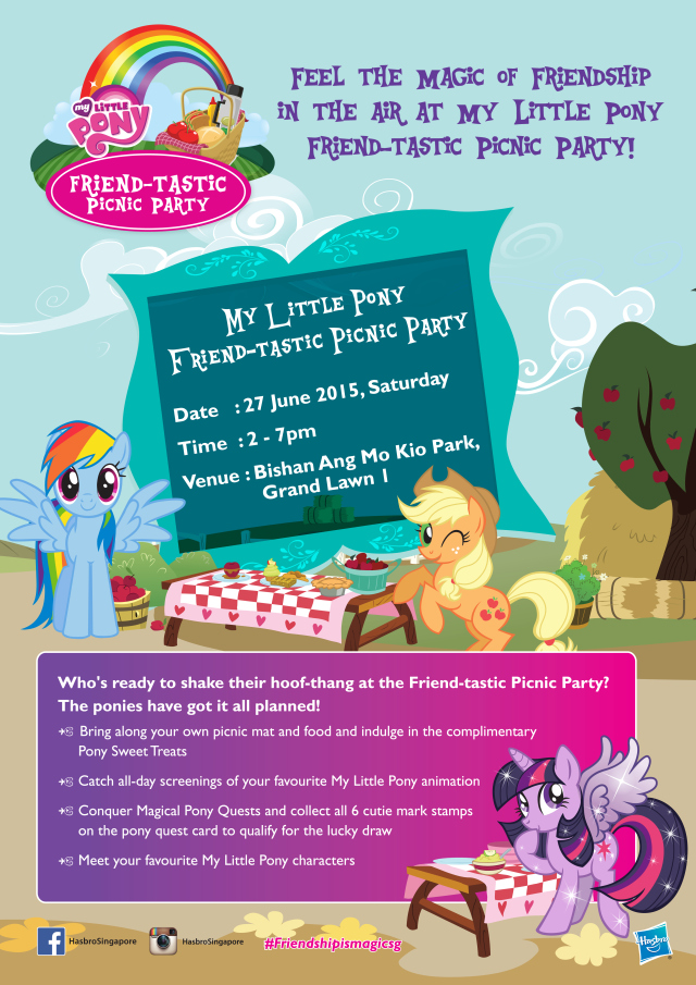 My Little Pony Friend-tastic Picnic Party Registration, Singapore