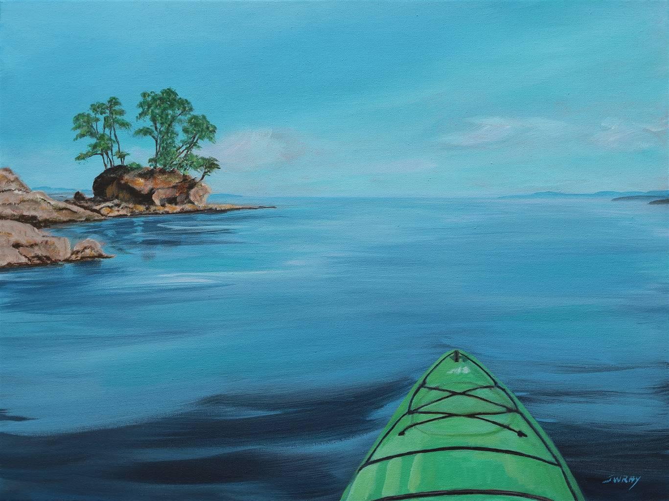 Johanna Wray,Island Time,Acrylic on Canvas,18