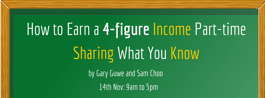 How to Earn a 4-figure Income Part-time Sharing What You Know Banner Image