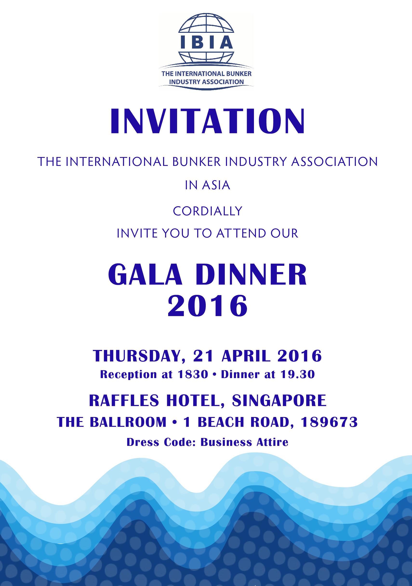 Ibia In Asia Gala Dinner 2016 Invitation Card Ibia In Asia