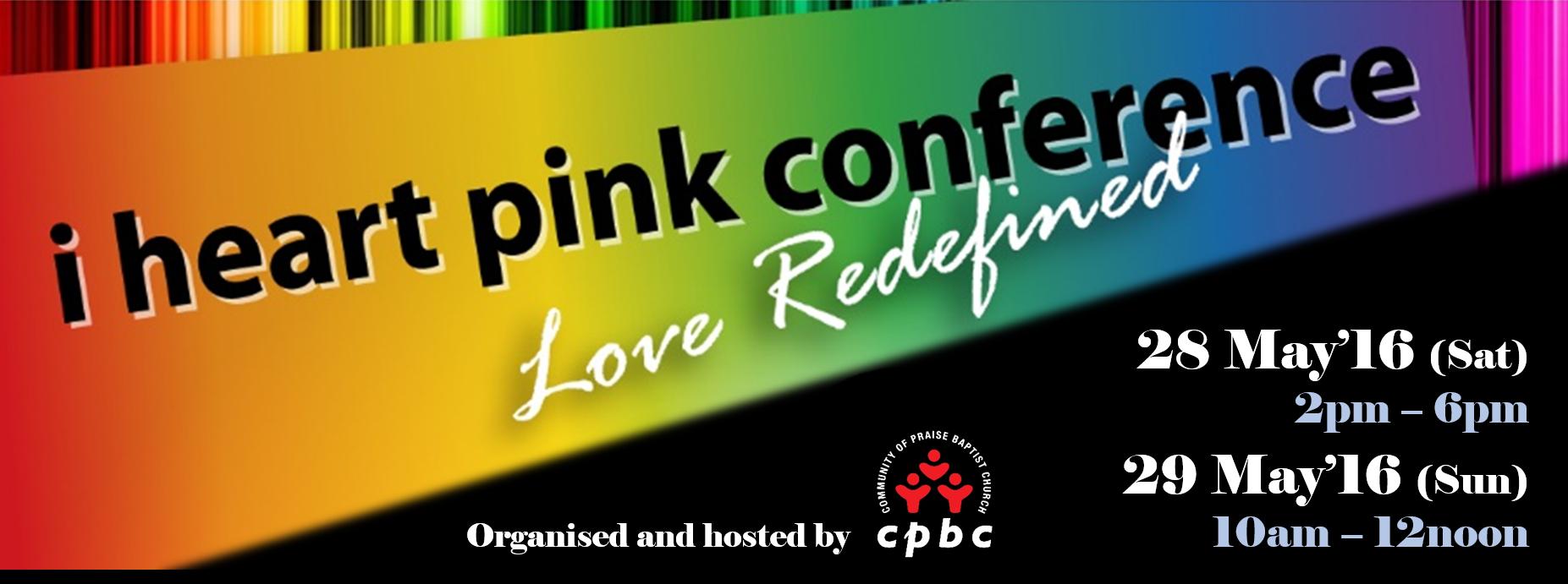 I HEART Pink Conference Banner Image