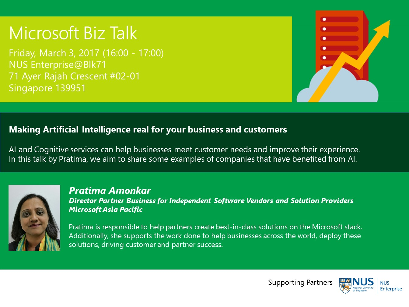 MICROSOFT BIZ TALK - MAKING ARTIFICIAL INTELLIGENCE REAL FOR YOUR BUSINESS AND CUSTOMERS
