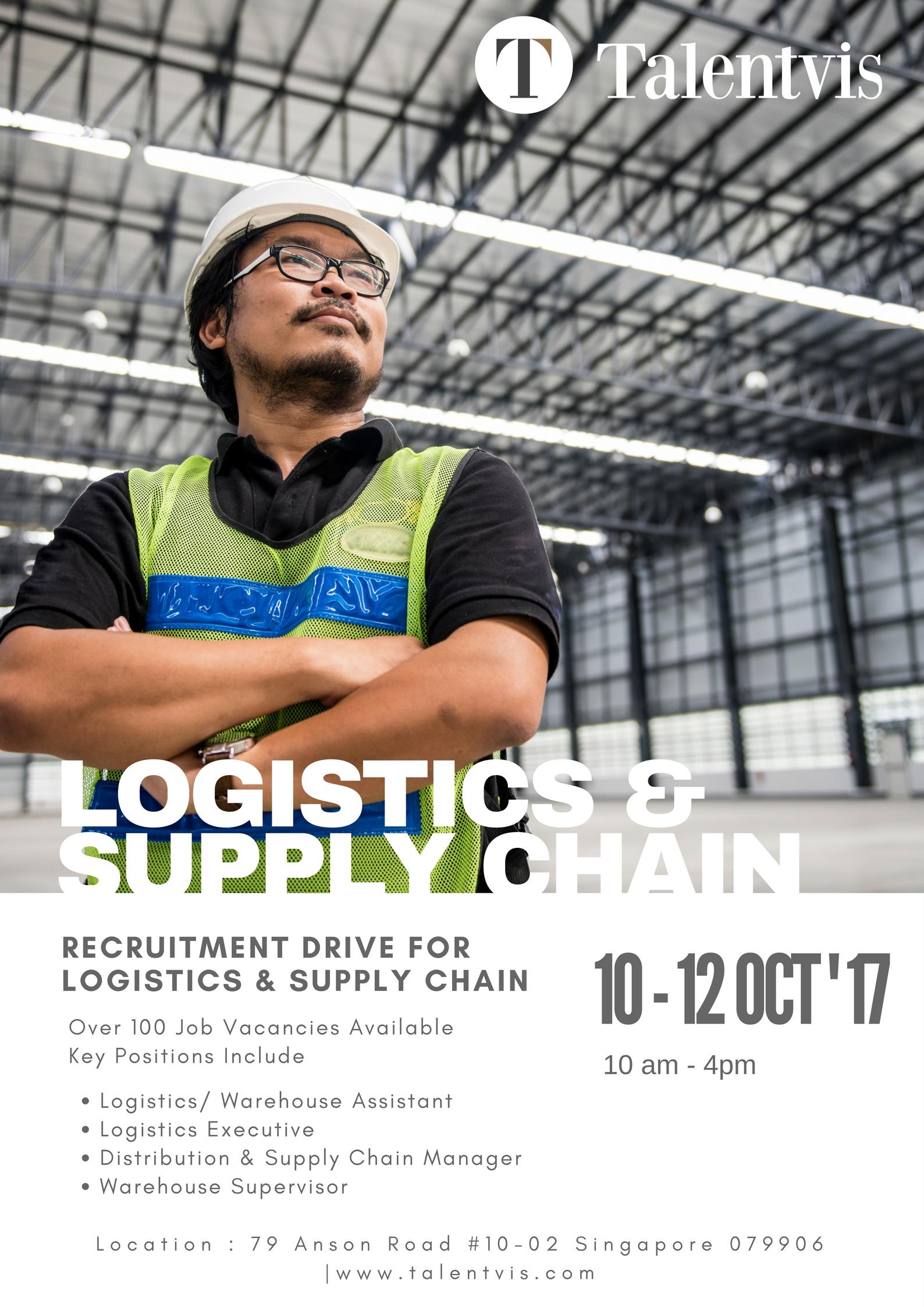 Logistics & Supply Chain Recruitment Drive @ Talentvis Singapore