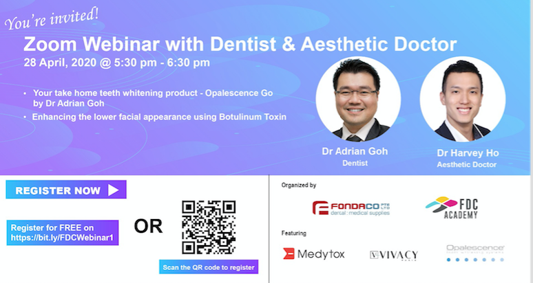 Live webinar with Dentist & Aesthetic Experts Banner Image