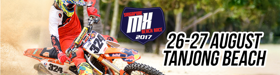 Singapore MX 2017 Beach Race Banner Image