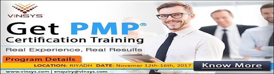 PMP® Certification Training in Riyadh, Vinsys Registration, Saudi ...
