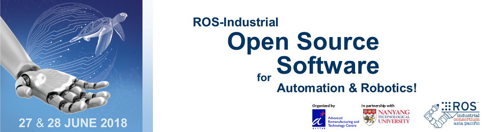 ROS-Industrial Asia Pacific Workshop 2018 Banner Image