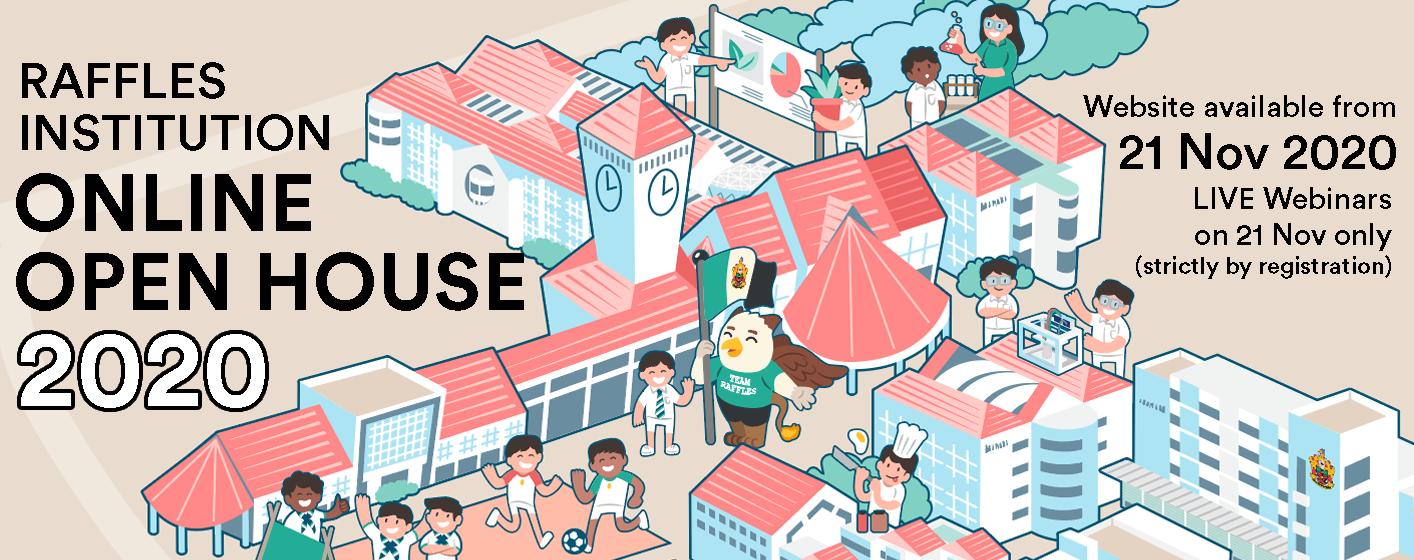 Raffles Institution Online Open House 2020 Banner Image