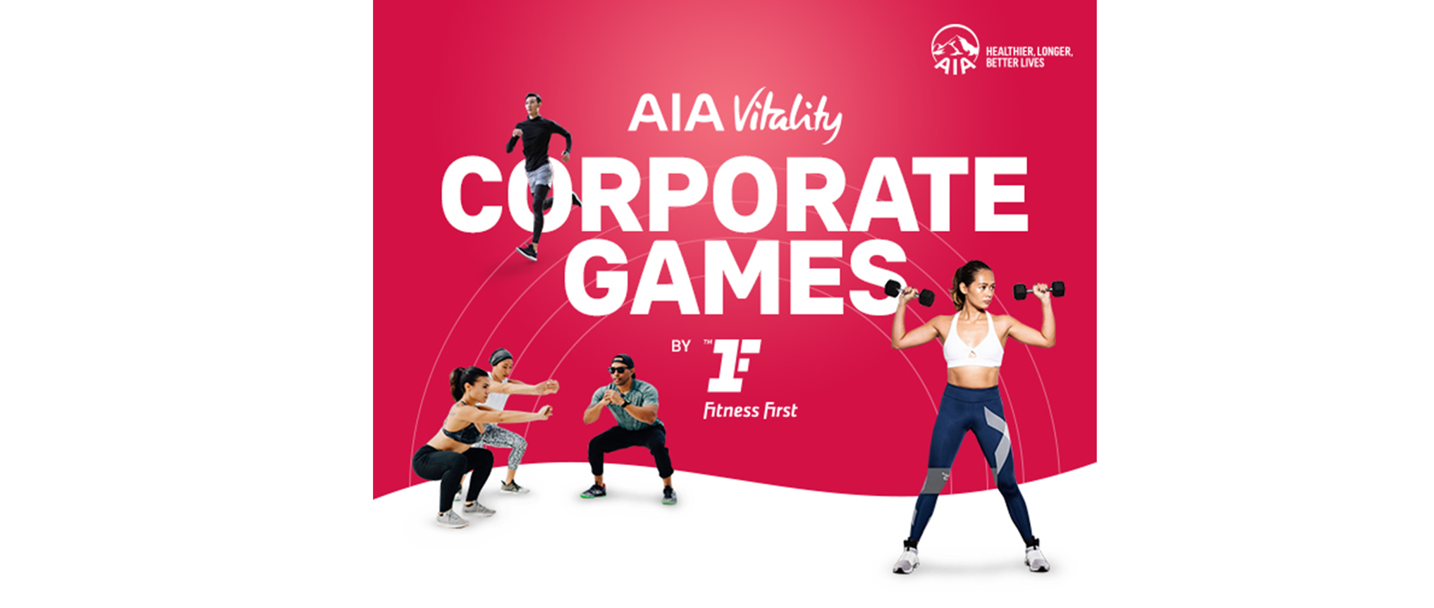 AIA Vitality Corporate Games by Fitness First - 18/05 Banner Image