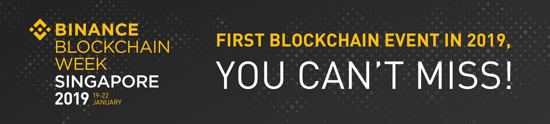 Binance Blockchain Week Singapore 2019 Banner Image