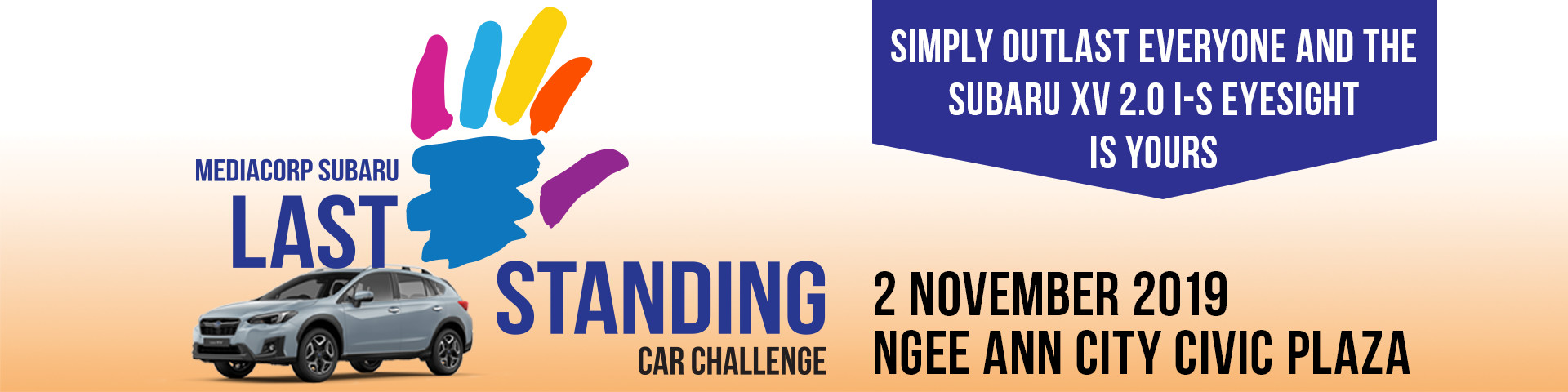 Last Palm Standing - Mediacorp Subaru Car Challenge Banner Image