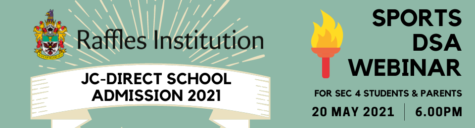 Raffles Institution DSA-JC 2021 Sports Webinar Banner Image