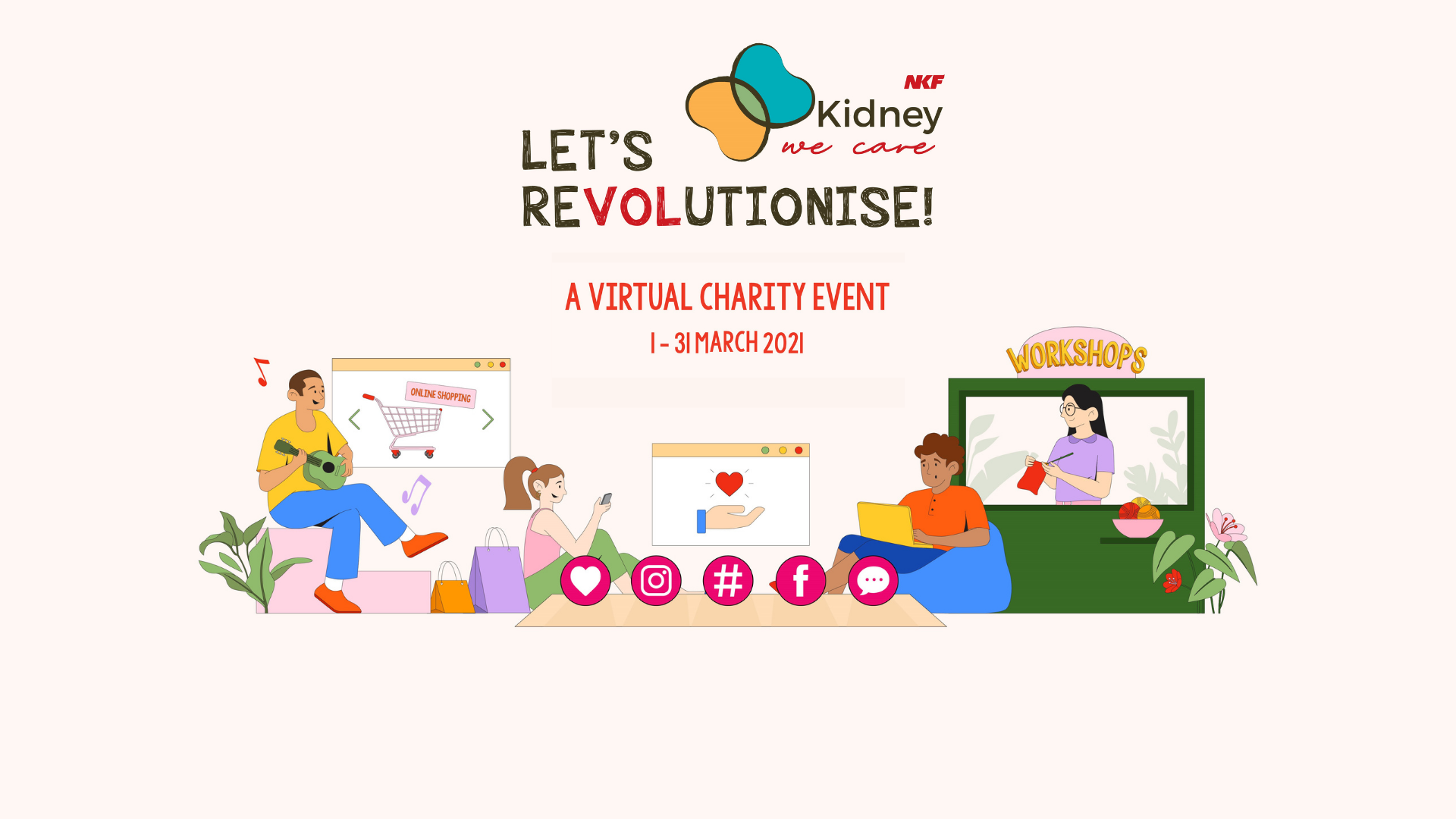 Painted With Love X Kidney We Care: Let's Revolutionise! Banner Image