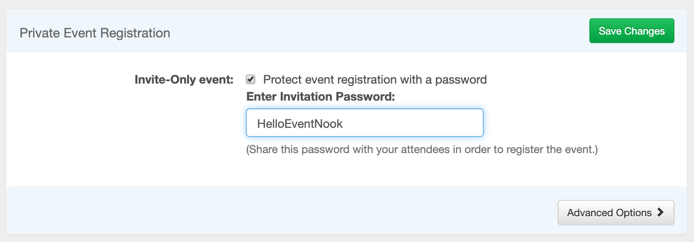 Make your event invite-only