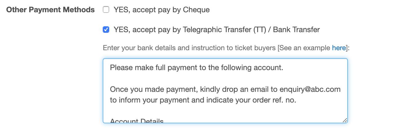 TT/Bank Transfer