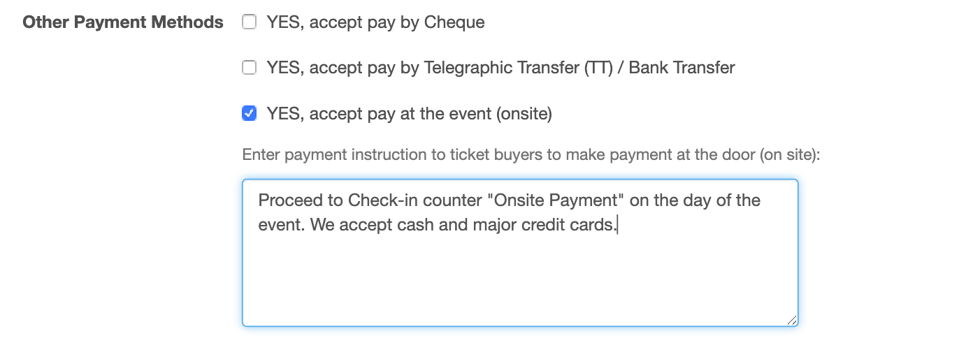 Onsite Payment
