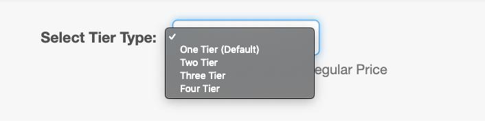 Number of Tiers