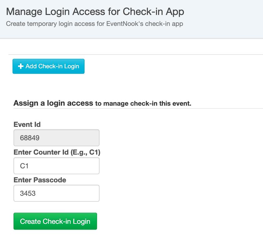 Check-in Login