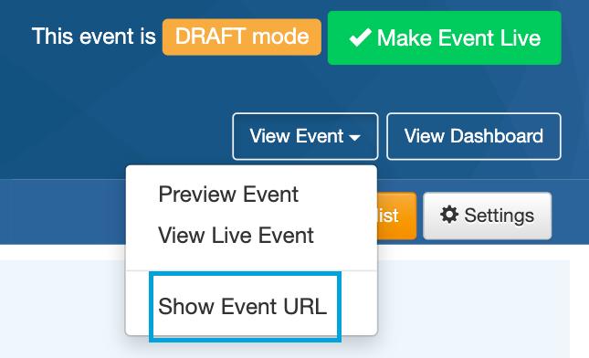 Show Event URL