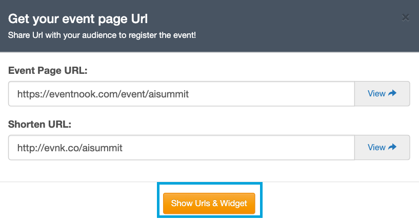 Show URLs & Widgets