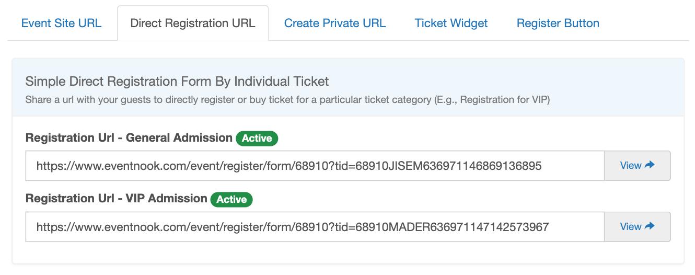 Direct Registration URL
