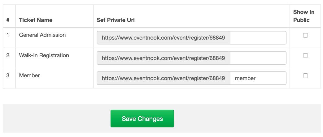 Private URL