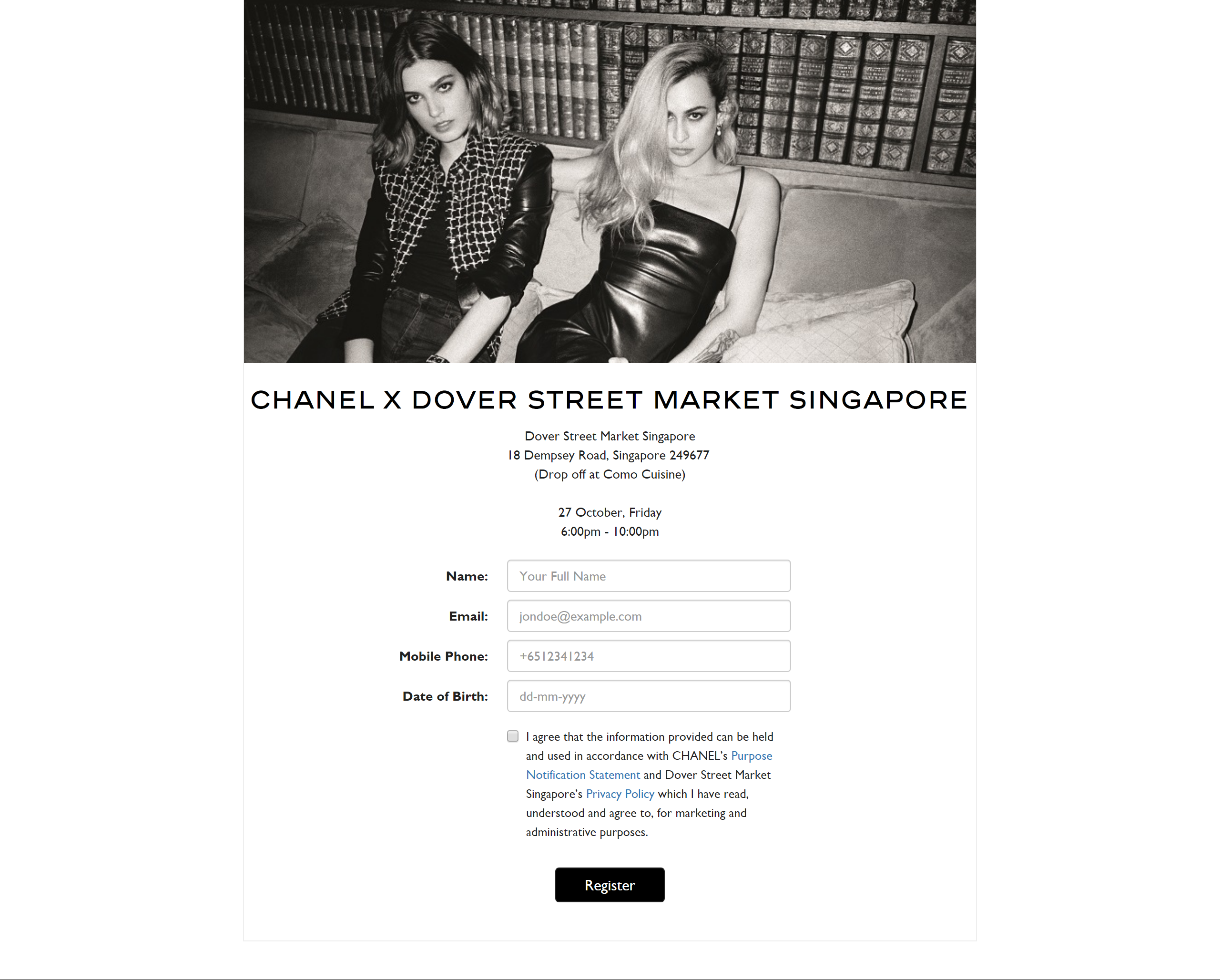 Chanel x Dover