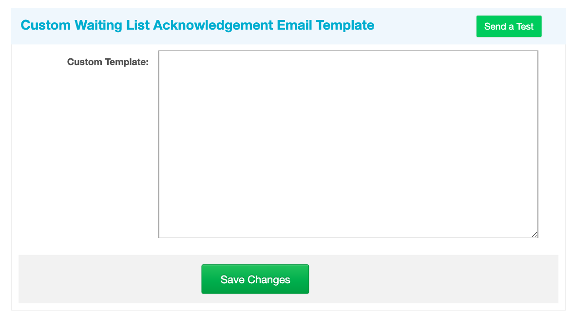 Custom Acknowledge Email