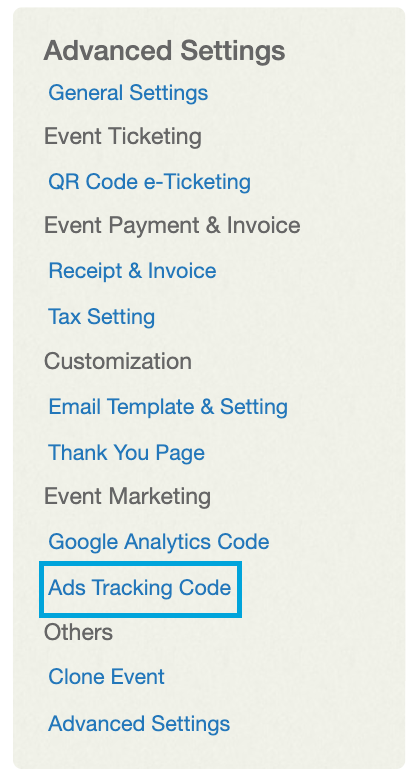 Ads Tracking
