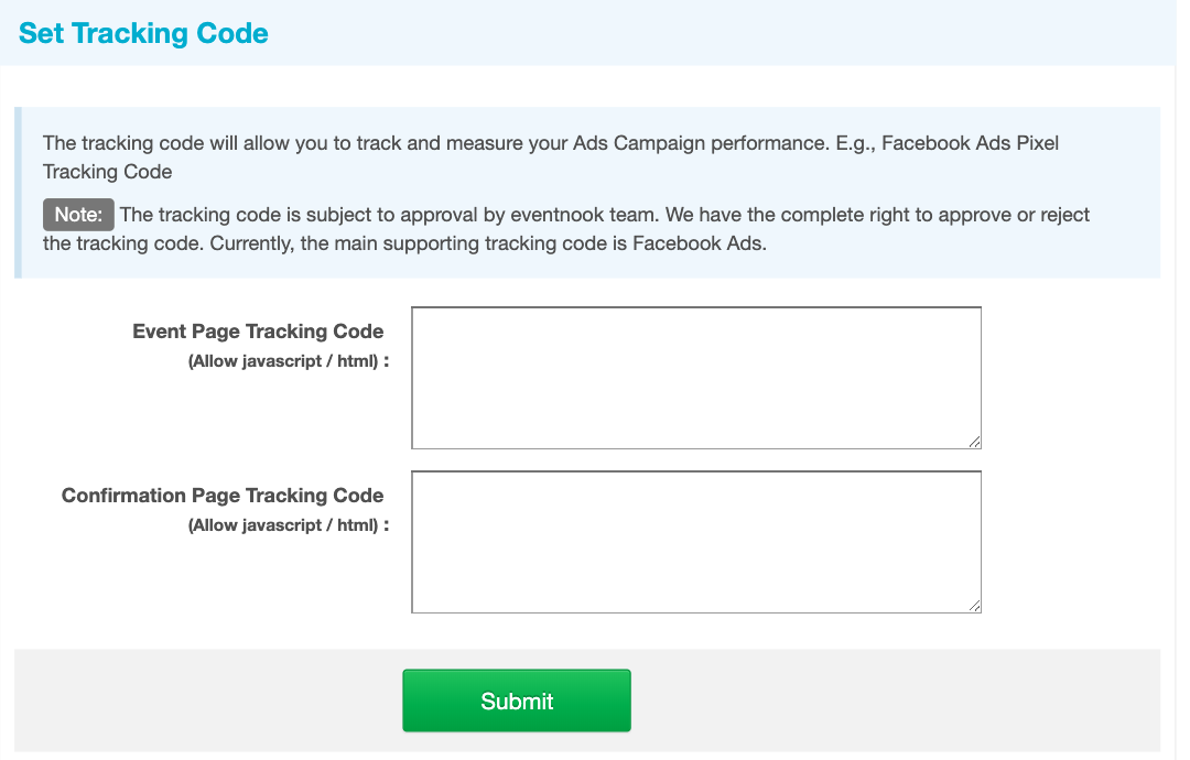 Ads Tracking Code