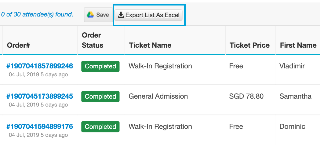Export As Excel