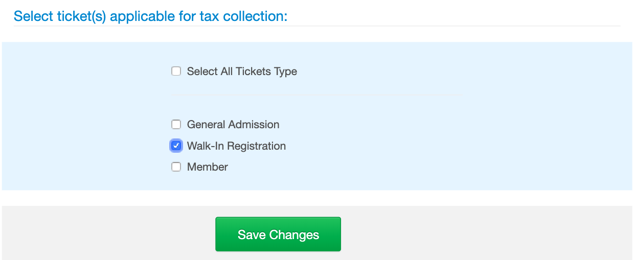 Select Ticket Type