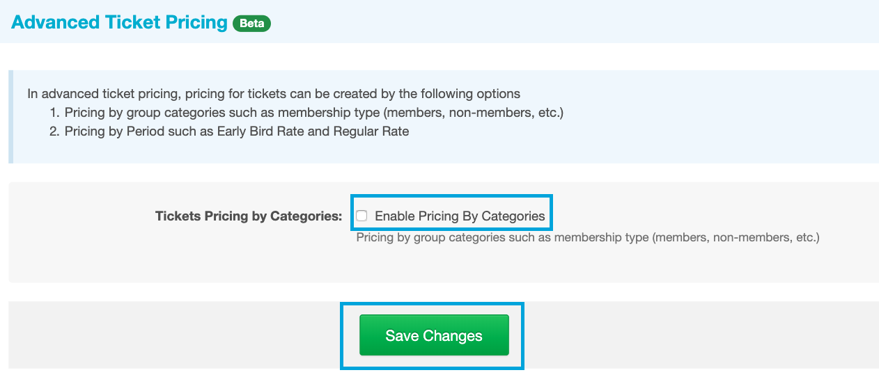 Enable Pricing by Categories