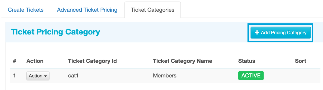 Add More Ticket Categories