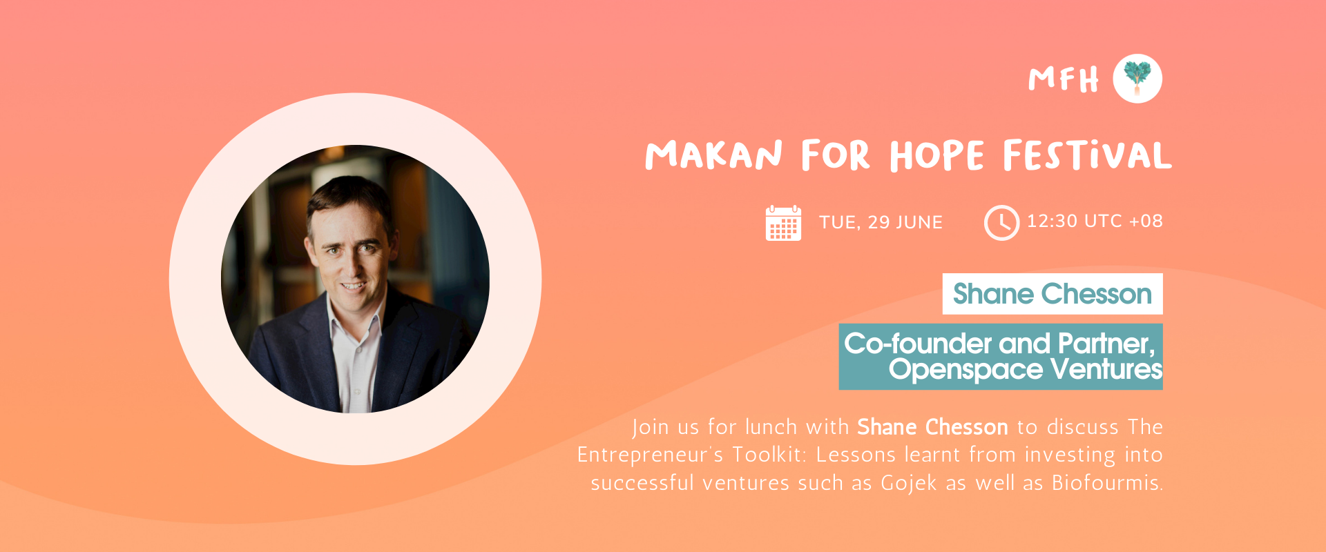 Shane Chesson - The Entrepreneur's Toolkit: Lessons learnt from investing into Successful Ventures such as Gojek and Biofourmis