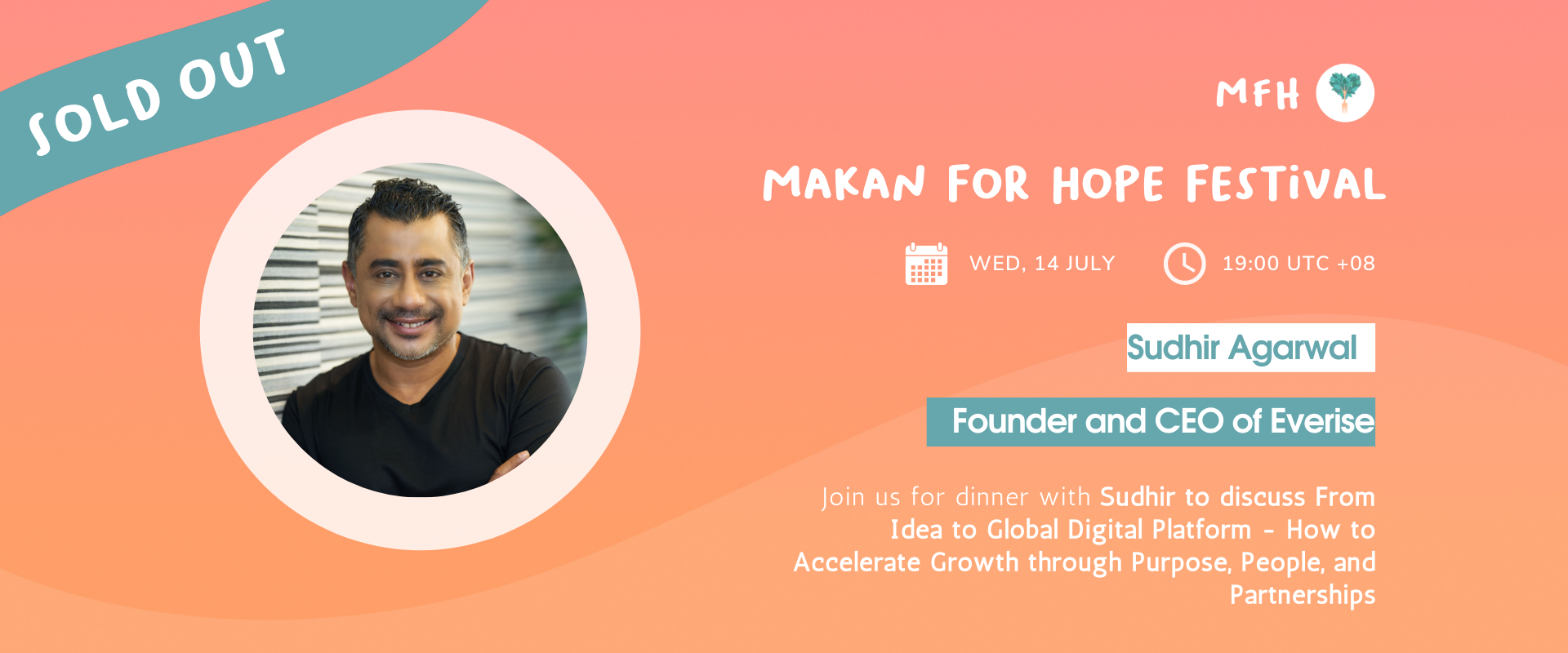 [SOLD OUT!] Sudhir Agarwal - The Entrepreneur's Toolkit: From Idea to Global Digital Platform - How to Accelerate Growth through Purpose, People... Banner Image