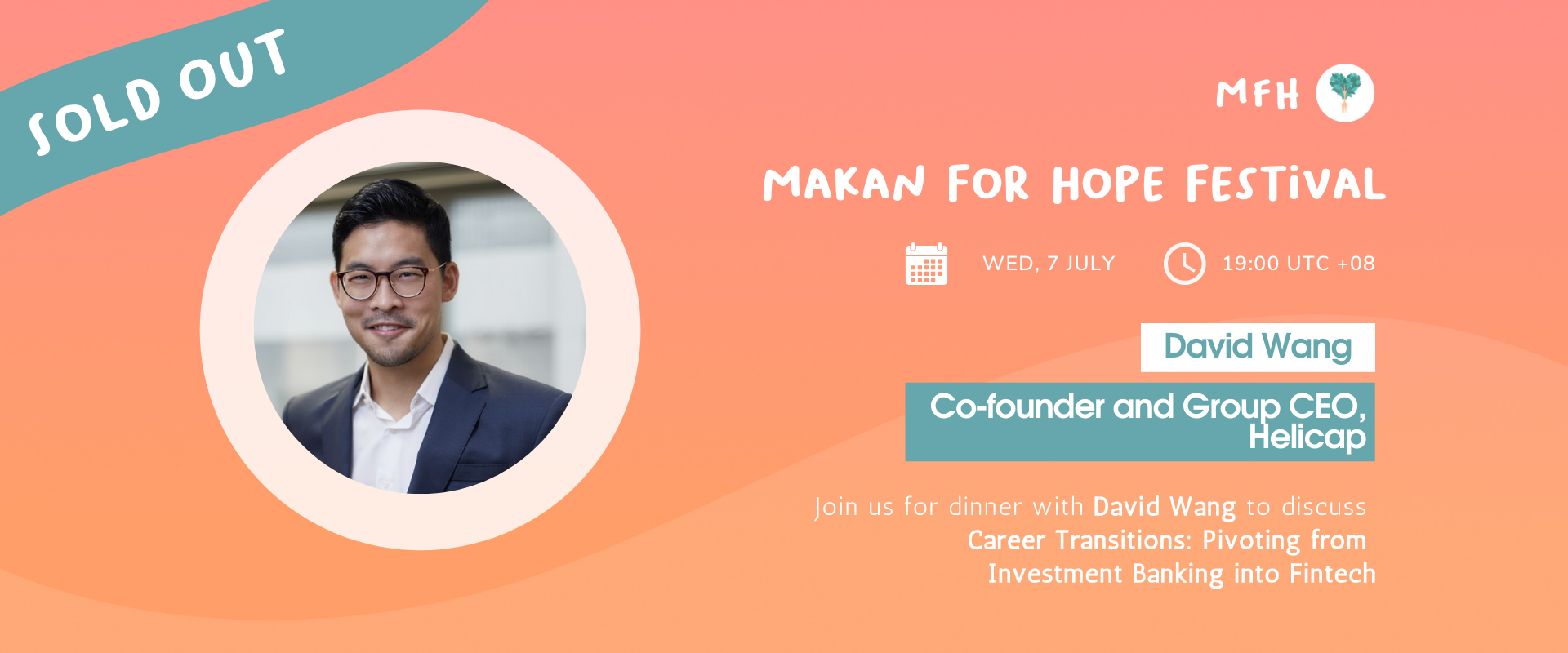 [SOLD OUT!] David Z Wang - Career Transitions: Pivoting from Investment Banking into Fintech Banner Image