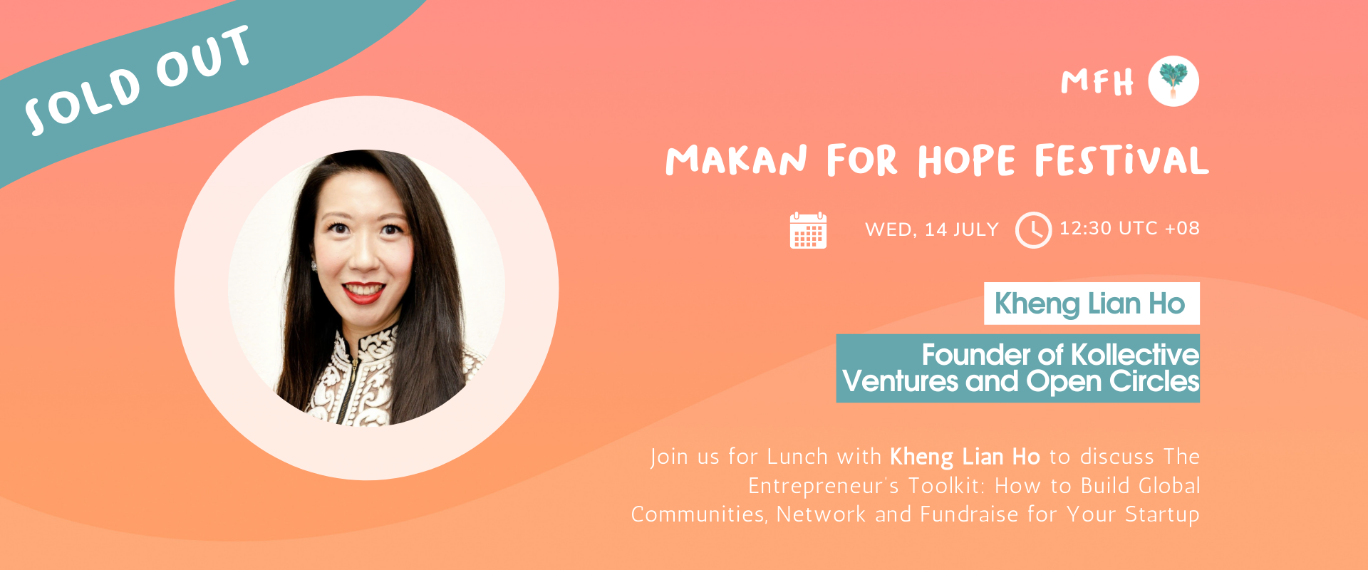 [SOLD OUT!] Kheng Lian Ho - The Entrepreneur's Toolkit: How to Build Global Communities, Network and Fundraise for Your Startup Banner Image